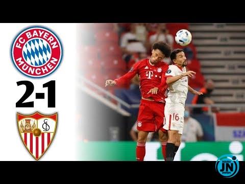 Super Cup 2020 - Bayern Munich vs Sevilla 2-1 Full Time